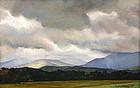 Luigi Lucioni Vermont landscape painting - Green Mtns.