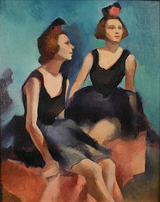 Marguerite E. Kumm painting of two dancers