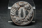Tsuba with A Dragon in Clouds, Japan, mid Edo Period