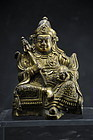Gilt Copper Statue of Kubera, Tibet, 18th C.