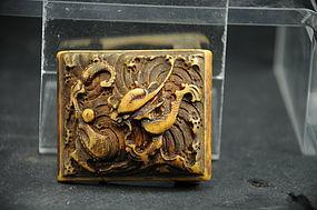 Ivory Belt Buckle # 2, China, Ming Dynasty