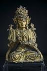 Statue of Manjusri, Tibet, 17th C.