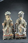 Pair of Taoist Statues, China, 19th C.