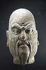 Head of a Lohan, China, 18th C.