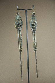 A Pair of Ogboni Society Edan
