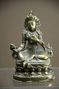 """Green Tara"" Statue, Tibet, 16th C."