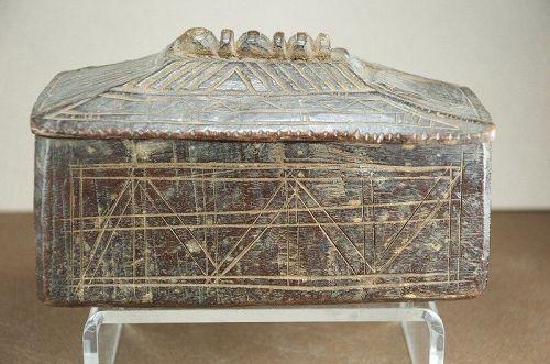Fine Salt Box, Nepal, 19th C.