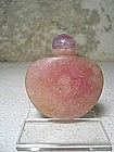 Pink Quartz Snuff Bottle, China, 19th C.