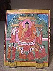 Buddhist Miniature Painting 1, Tibet, 19th C.