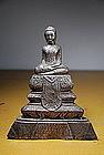 Silver Statue of Buddha, Burma, 19th C.