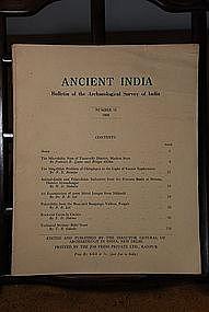 Ancient India Bulletin, No 12, Year 1956