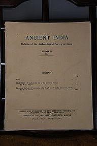 Ancient India Bulletin, No 13, Year 1957