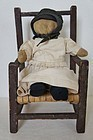 "14"" antique Amish doll rag stuffed , just right"
