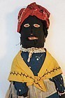 Antique black broom doll with great face