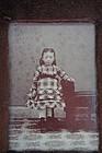 Tintype of a little girl Civil War Era homemade frame