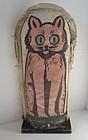 Great knock down carnival cat early large folk art