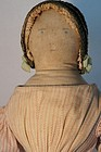 Large covered wagon type antique cloth doll early nice