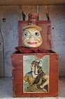 Antique Jack in the Box large size toy clown