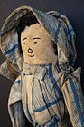 Early corn cob cloth doll embroidered face