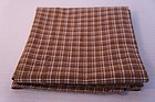 Very large early brown homespun towel 1830 great condition