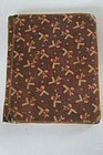Brown calico cloth covered school book circa 1890