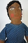 Antique black doll with the best painted face 24""