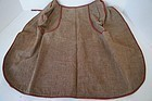 An early brown check fabric apron red brown tape binding the best