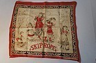 Child's late 1800's printed cotton textile handkerchief turkey red