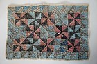 Doll quilt, early hand pieced, hand sewn, hand quilted calico