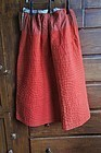 Red calico antique petticoat ticking waist band excellent cond.