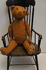 "14"" bald teddy bear with a little attitude antique early"