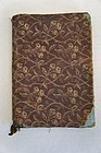 Antique cloth covered book brown calico fabric