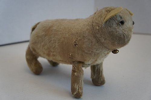 An early antique mohair toy cat