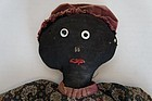 Folky homemade black cloth doll all original great!