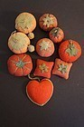 Collection of 10 antique sewing pin cushions emeries.
