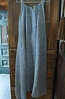 A large size antique blue check linen homespun coverall apron