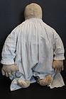 Large folk art cloth doll biggest hands ever! 1890-1900