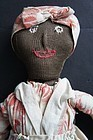 19th C. topsy turvy cloth doll very unusual hand sewn