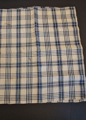 "Antique linen homespun towel 18"" by 33"" circa 1830-40"