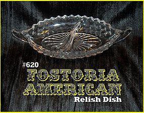 Fostoria American 2-Part Relish Dish #620