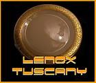 "Lenox Tuscany 10 3/4"" Dinner Plate  MSRP: $65.95"