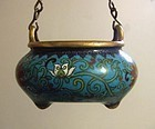 A Chinese Imperial Qianlong Cloisonne Censer