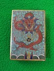 Antique Chinese Cloisonne Match Box in Dragon Motif