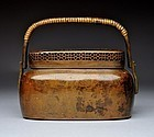 Antique Chinese Qing Hand Warmer with Nice Patina