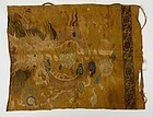 Rare Chinese Ming Dynasty Silk Brocade Dragon Panel