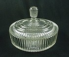 Queen Mary Candy Jar & Cover - Crystal