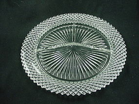 Miss America Grill Plate - Crystal