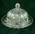 Colonial Knife & Fork Butter Dish - Crystal