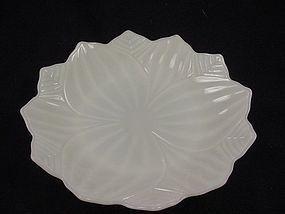 FireKing Leaf & Blossom Plate - Ivory