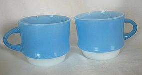 FireKing Blue Mosaic Coffee Mug